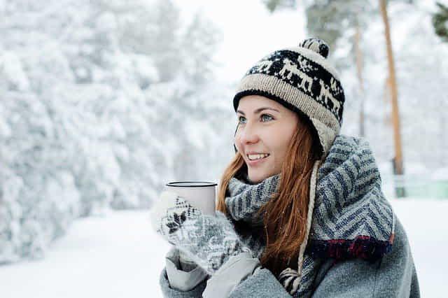 девушка зимой