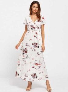 цветочное платье А силуэта